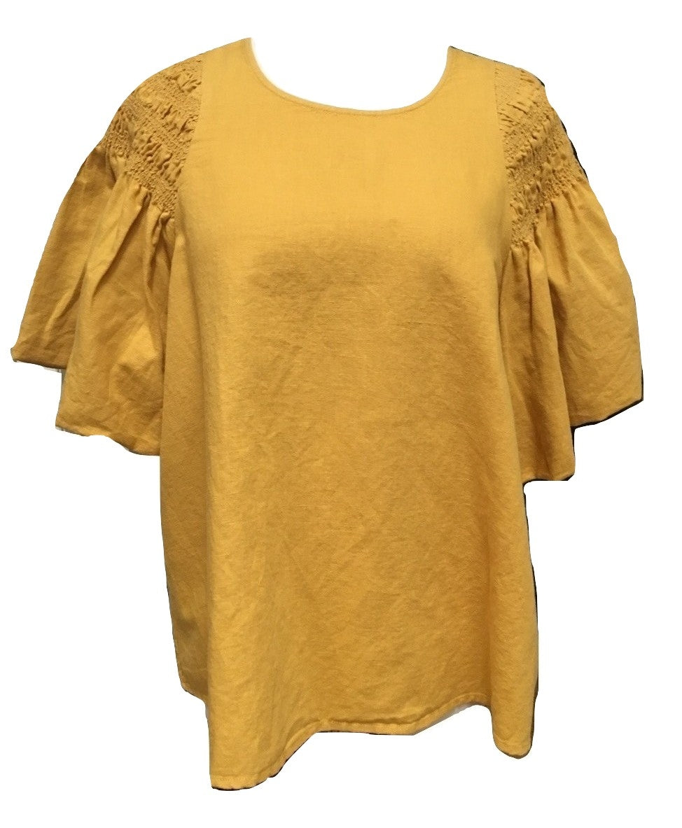 The Great Smocked Butterfly Top - Golden