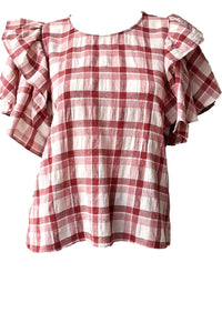 The Great Whisper Shirt - Brick Red