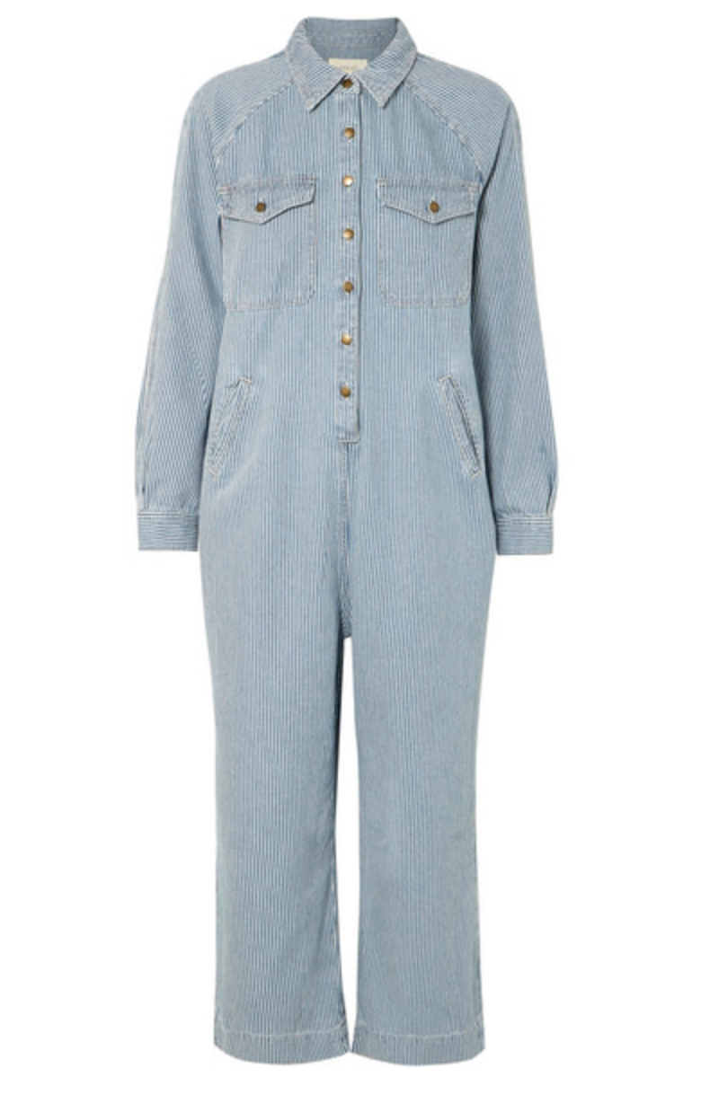 The Great Cropped Boiler Suit - Boxcar Stripe
