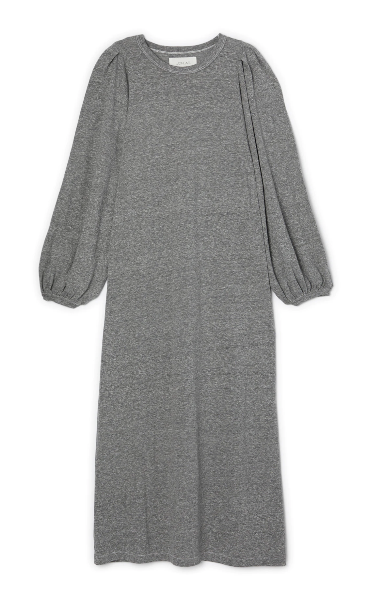 The Great Pleat Sleeve Dress - Grey