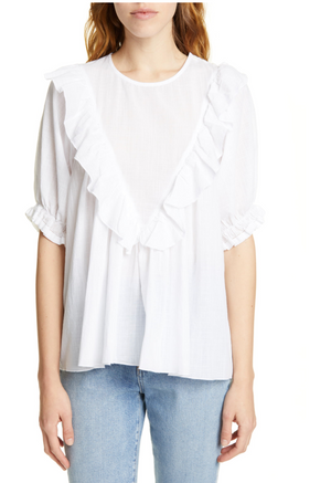 The Great Ruffle Triangle Top - White