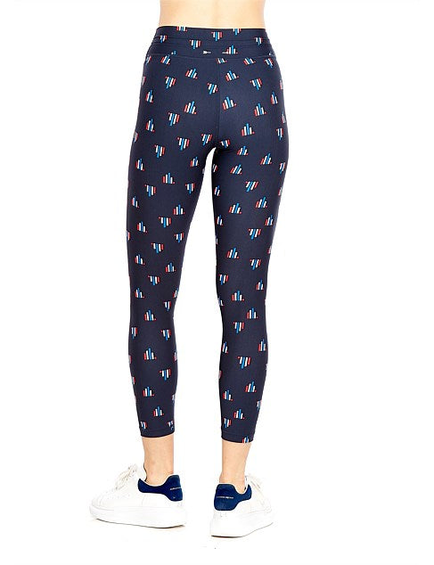 The Upside Art Deco Midi Pant - Navy