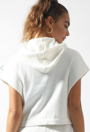 The Upside Ezi Sleeveless Hoodie - Ivory