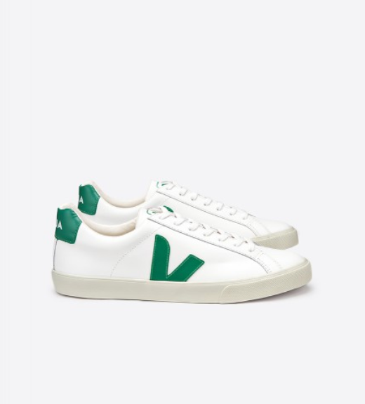 Veja Esplar Leather Sneaker - White/Emerald