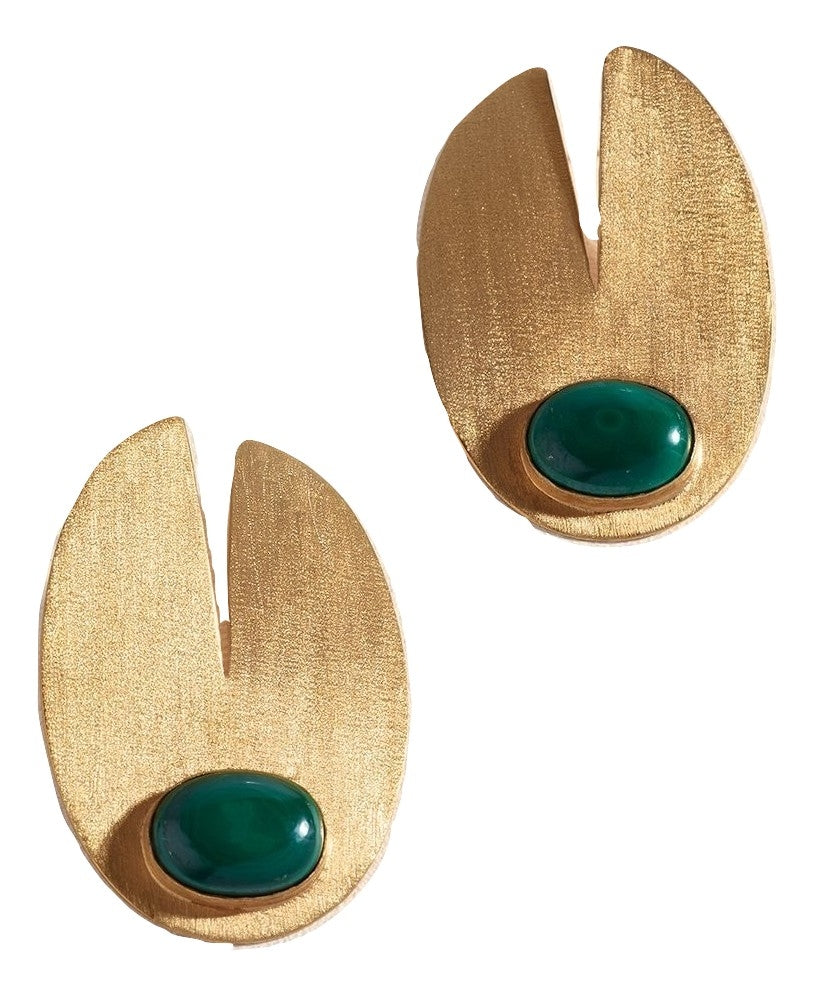 Zoja Ryka Earrings - Malachite