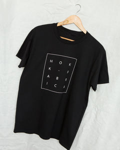 HOKK fabrica Printed Logo Tee in BLACK