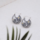 Anting Kupu Kupu Collection Silver Mini Hoop Earings