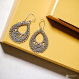 Anting Bun Jawan Trawangan Silver Dangle Earrings