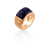 Cincin Model Band Ring Koleksi Gajah Gold Plated