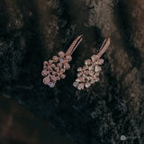 Flamboyan Dangling Earrings Rose Gold Plated
