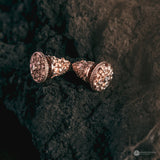 Flamboyan Subeng Stud Earrings Rose Gold Plated