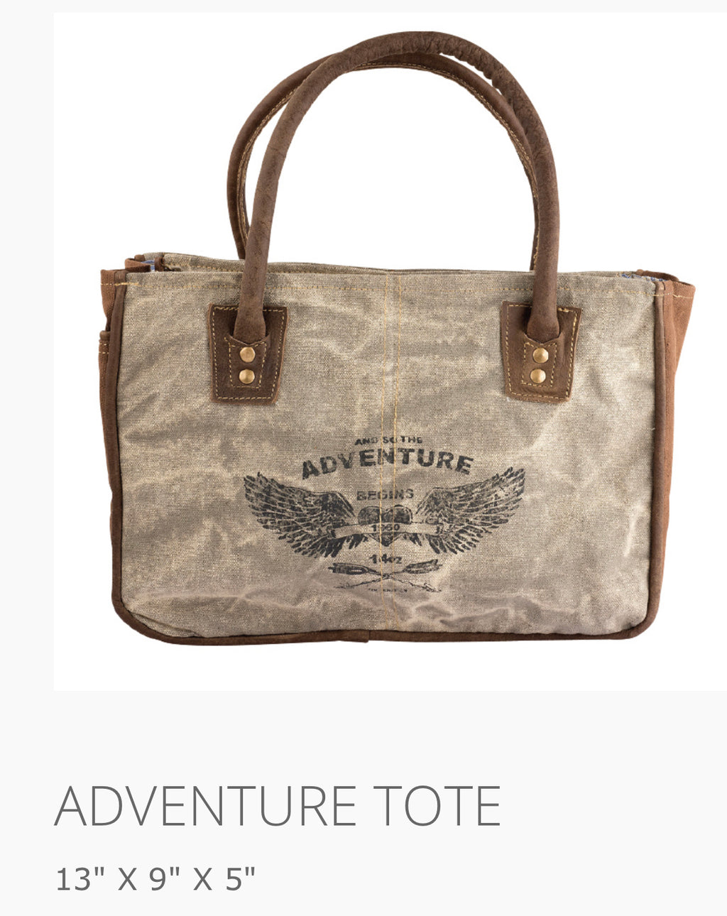 Adventure Tote Bag made from military tent and truck canvas - The Wall Kids, Inc.