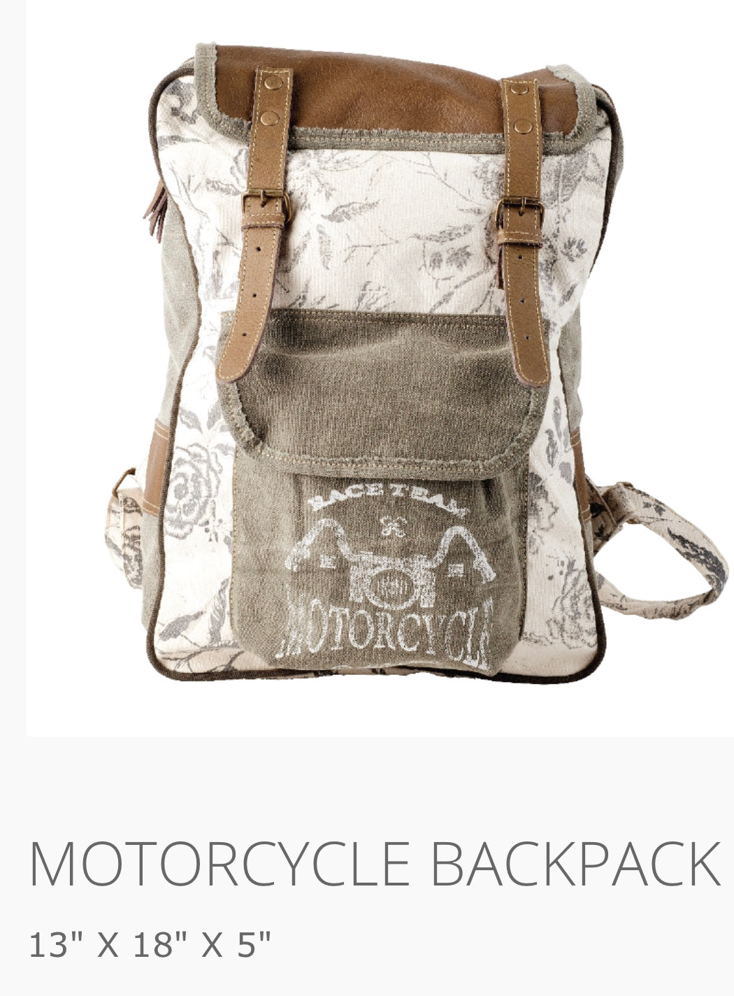 Backpack floral motorcycle - The Wall Kids, Inc.