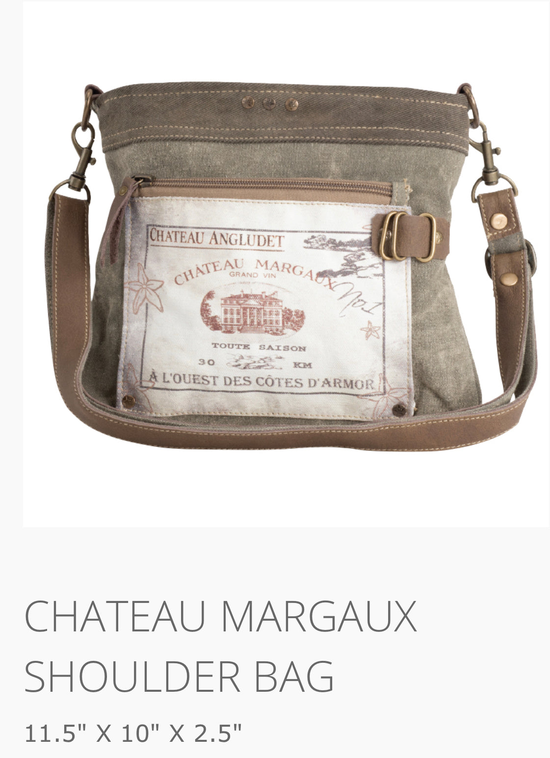 Chateau Margaux made from repurposed military tent and truck canvas - The Wall Kids, Inc.