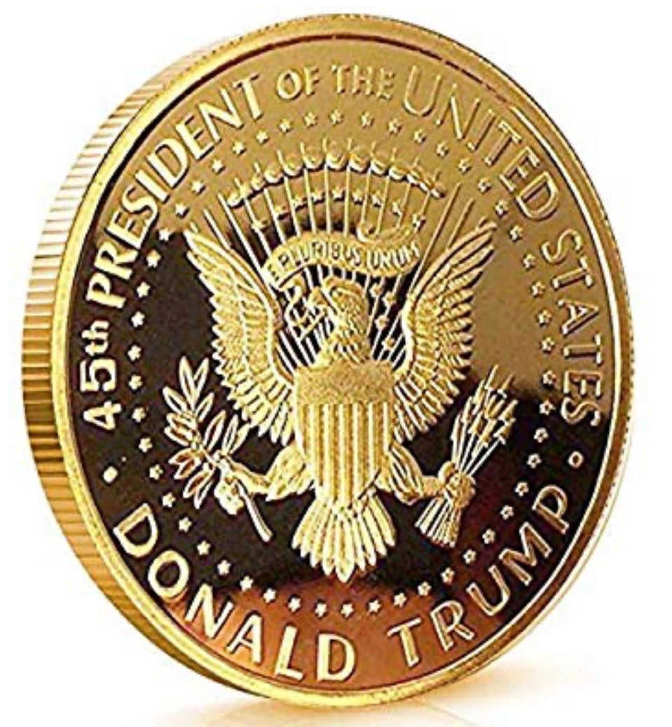 Trump 2020 coin - The Wall Kids, Inc.