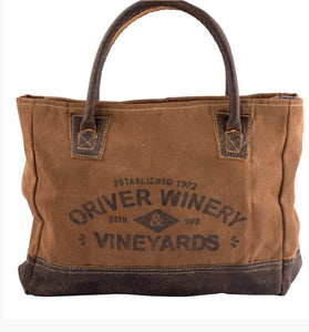 Adjustable Canvas Winery Tote Bag with Leather Straps - The Wall Kids, Inc.