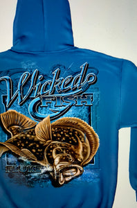 Fluke Fishing Sweatshirts Blue - The Wall Kids, Inc.