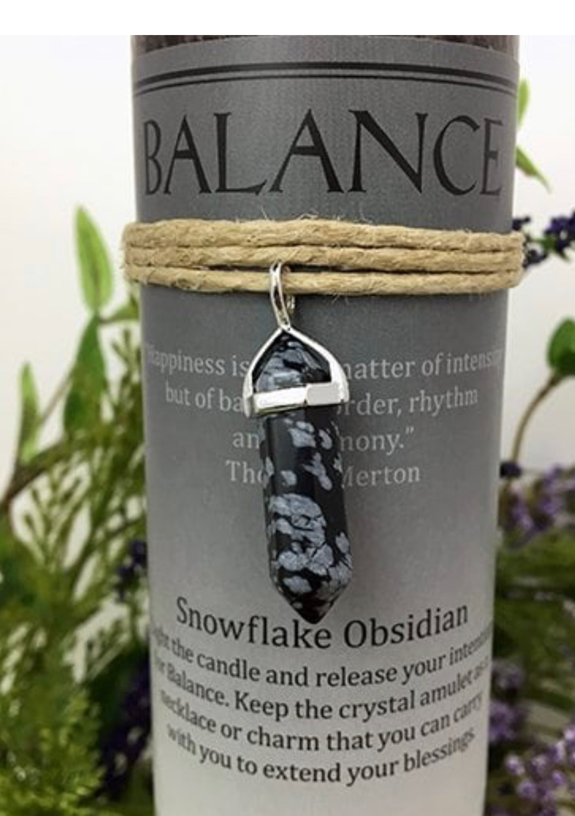 Candle (Balance) Snow Flake Obsidian - The Wall Kids, Inc.