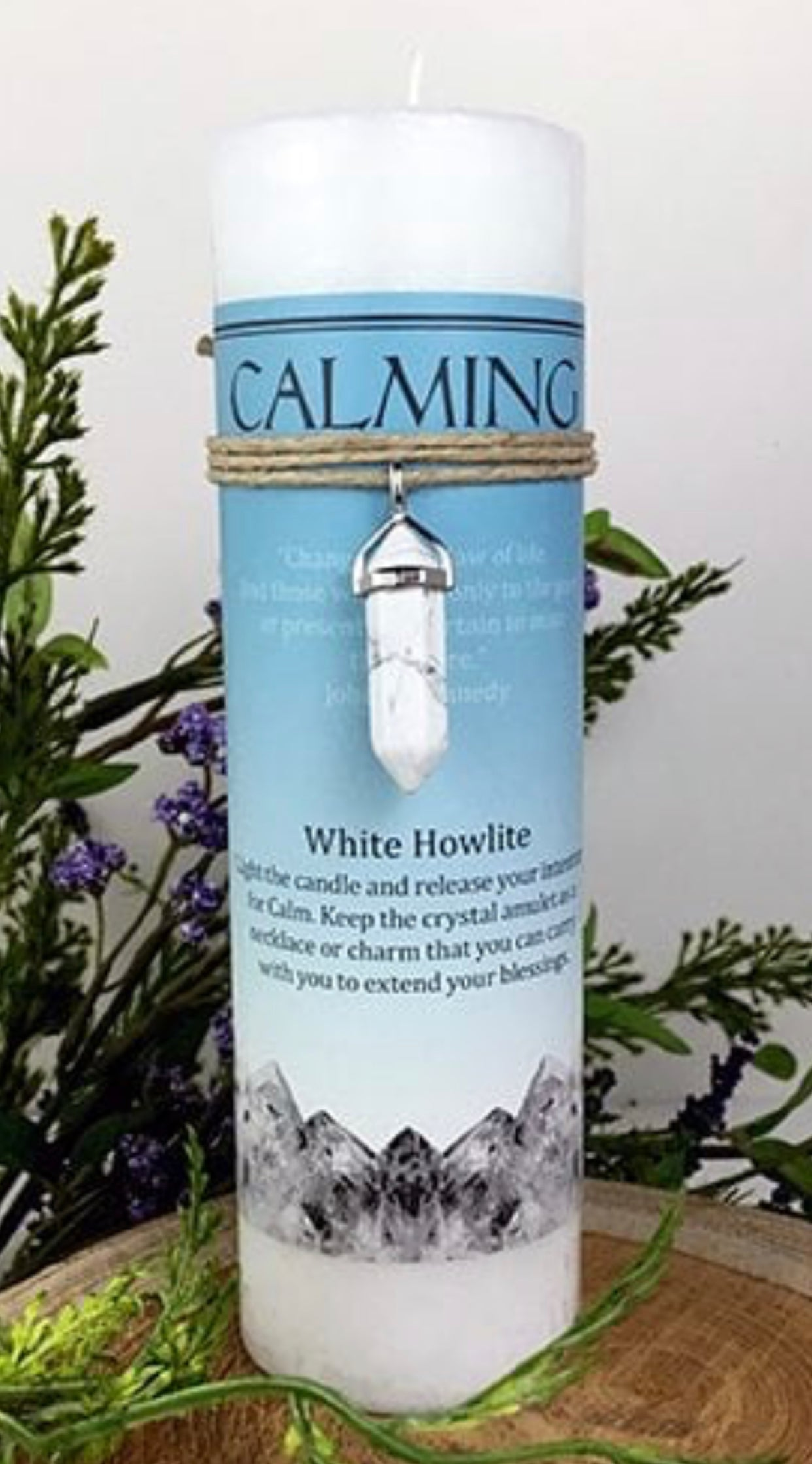 Candle (Calming). White Howlite - The Wall Kids, Inc.