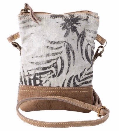 LEAF FRONT PASSPORT CANVAS SHOULDER / CROSSBODY BAG - The Wall Kids, Inc.