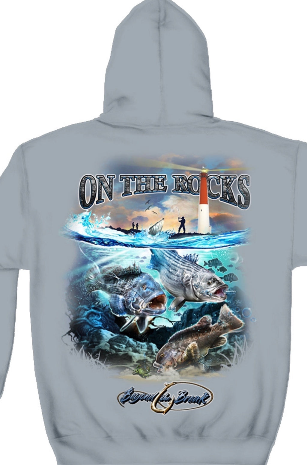 On The Rocks Beyond The Break Sweatshirt Striped Bass - The Wall Kids, Inc.