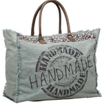 LARGE HANDMADE OVERNIGHT TOTE CANVAS BAG - The Wall Kids, Inc.