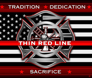 Thin Red line Firefighter 50X60 Fleece Blanket - The Wall Kids, Inc.