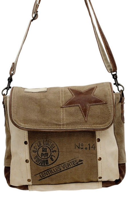 LENTILLES. NO.14 CANVAS CROSSBODY. SHOULDER BAG - The Wall Kids, Inc.