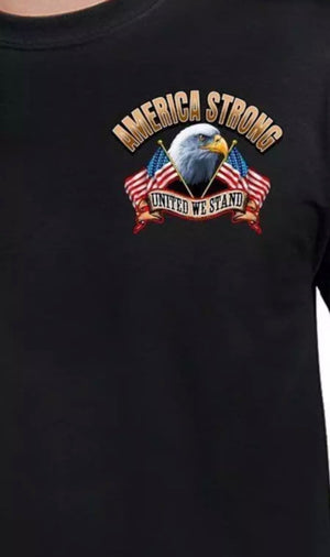 America Strong Motorcycle United We Stand T-Shirt - The Wall Kids, Inc.