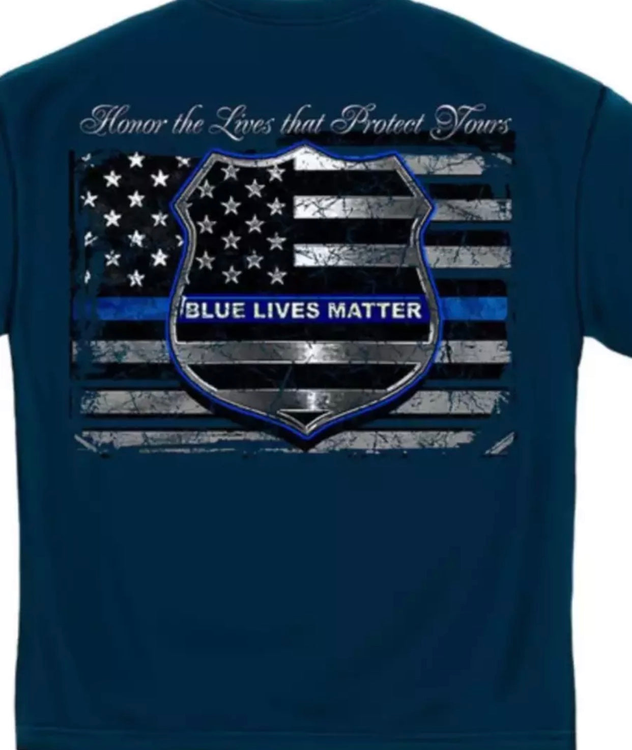 Blue Lives Matter Police Law Enforcement T-Shirt - The Wall Kids, Inc.