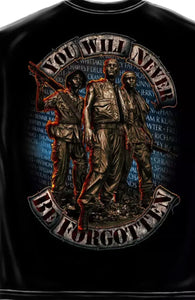 Vietnam You Will Never Be Forgotten Wall T-shirt - The Wall Kids, Inc.