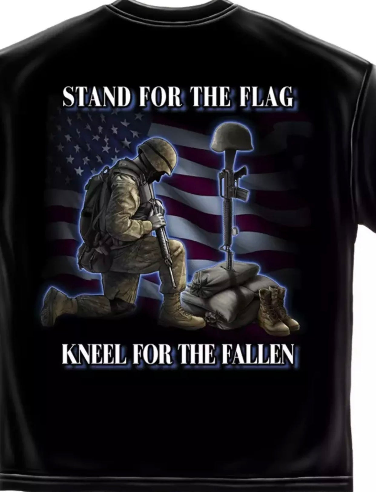 Stand For The Flag Kneel For The Fallen - The Wall Kids, Inc.