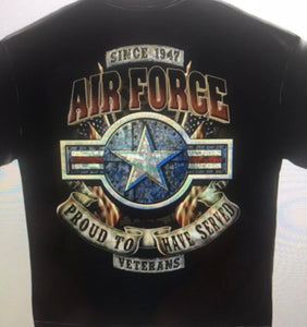 Airforce Proud To Have Served Veterans T-Shirt - The Wall Kids, Inc.