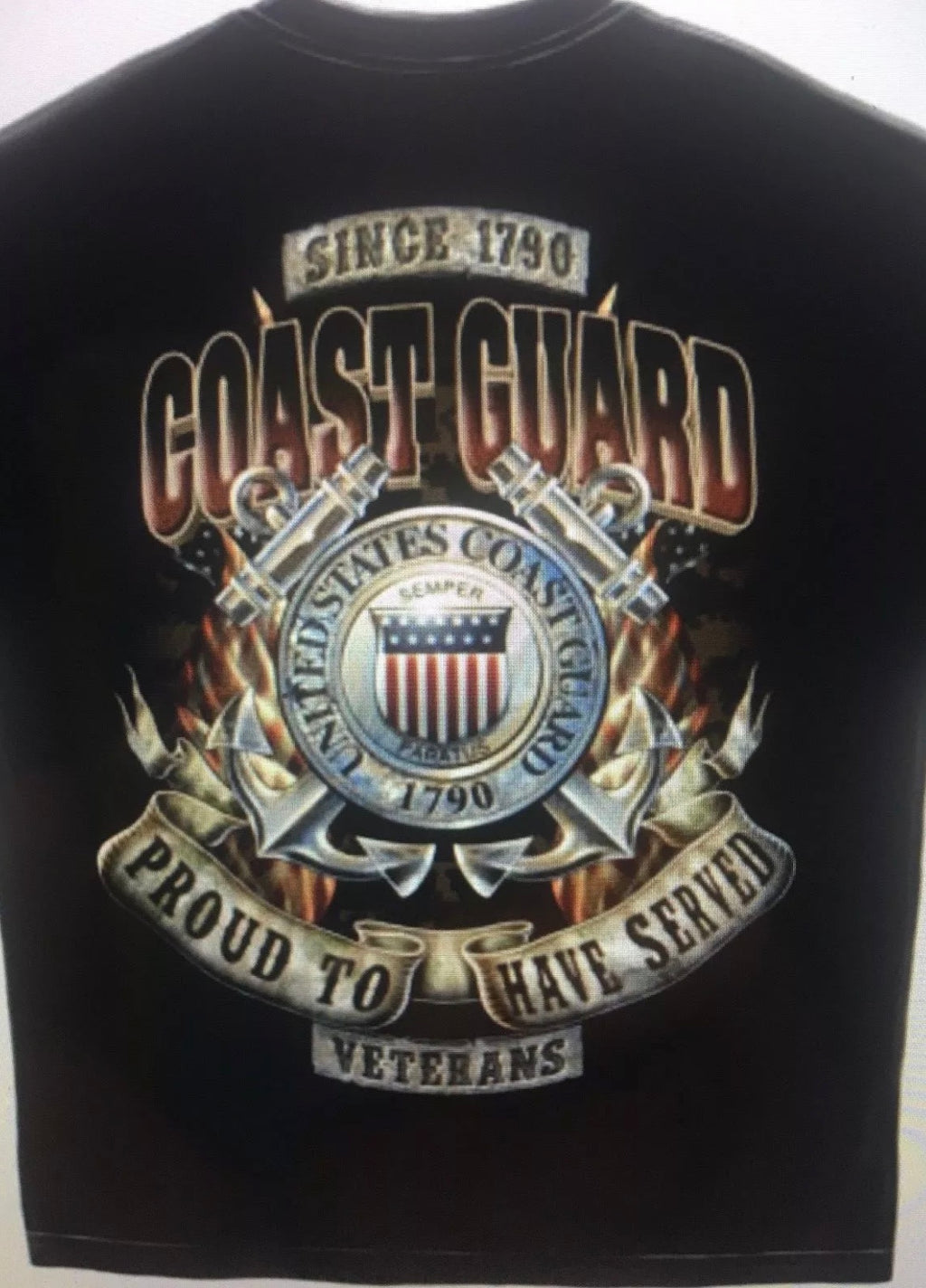 Coast Guard Proud To Have Served Veterans T-Shirt - The Wall Kids, Inc.