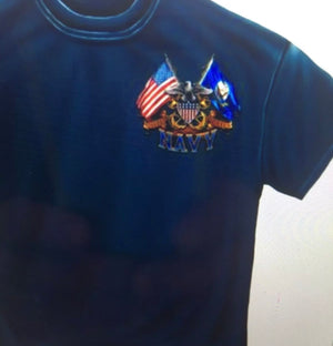 Navy 2 Flag T-Shirt - The Wall Kids, Inc.