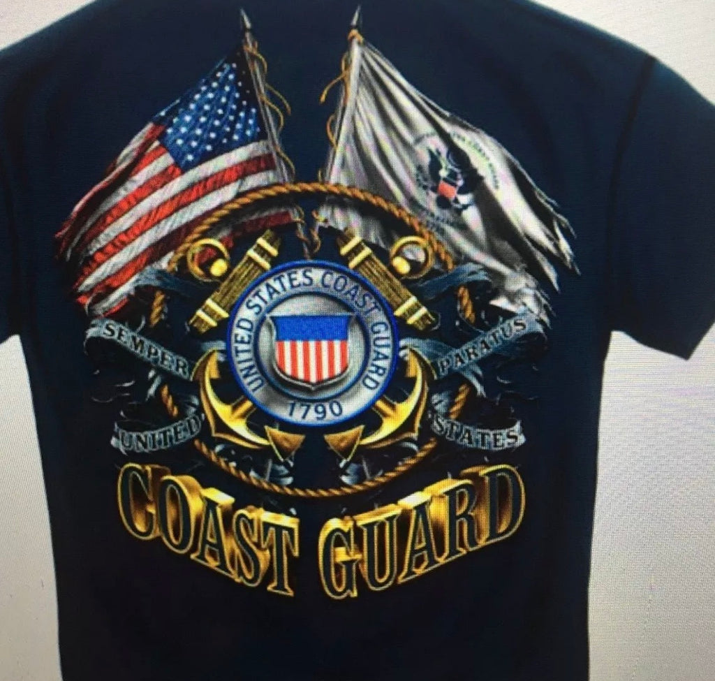 Coast Guard 2 Flag T-Shirt - The Wall Kids, Inc.