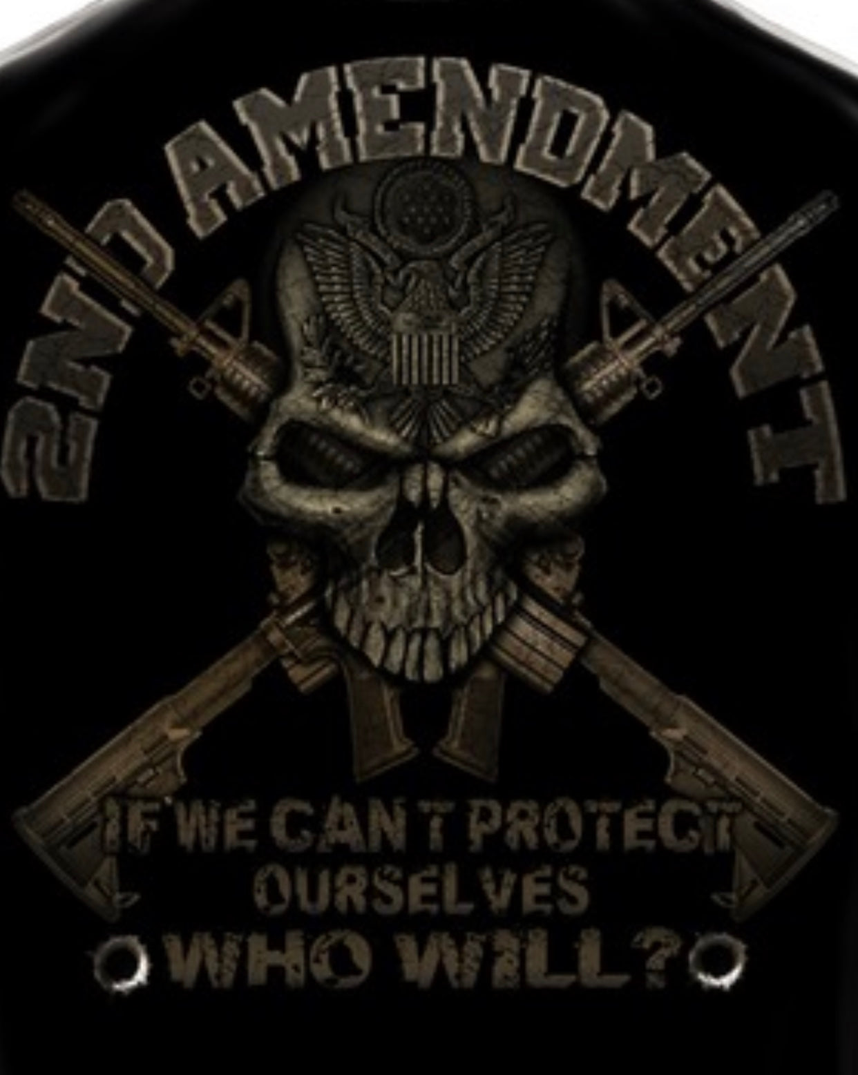 2nd Amendment Skull Can't Protect Ours Selves T-Shirts - The Wall Kids, Inc.