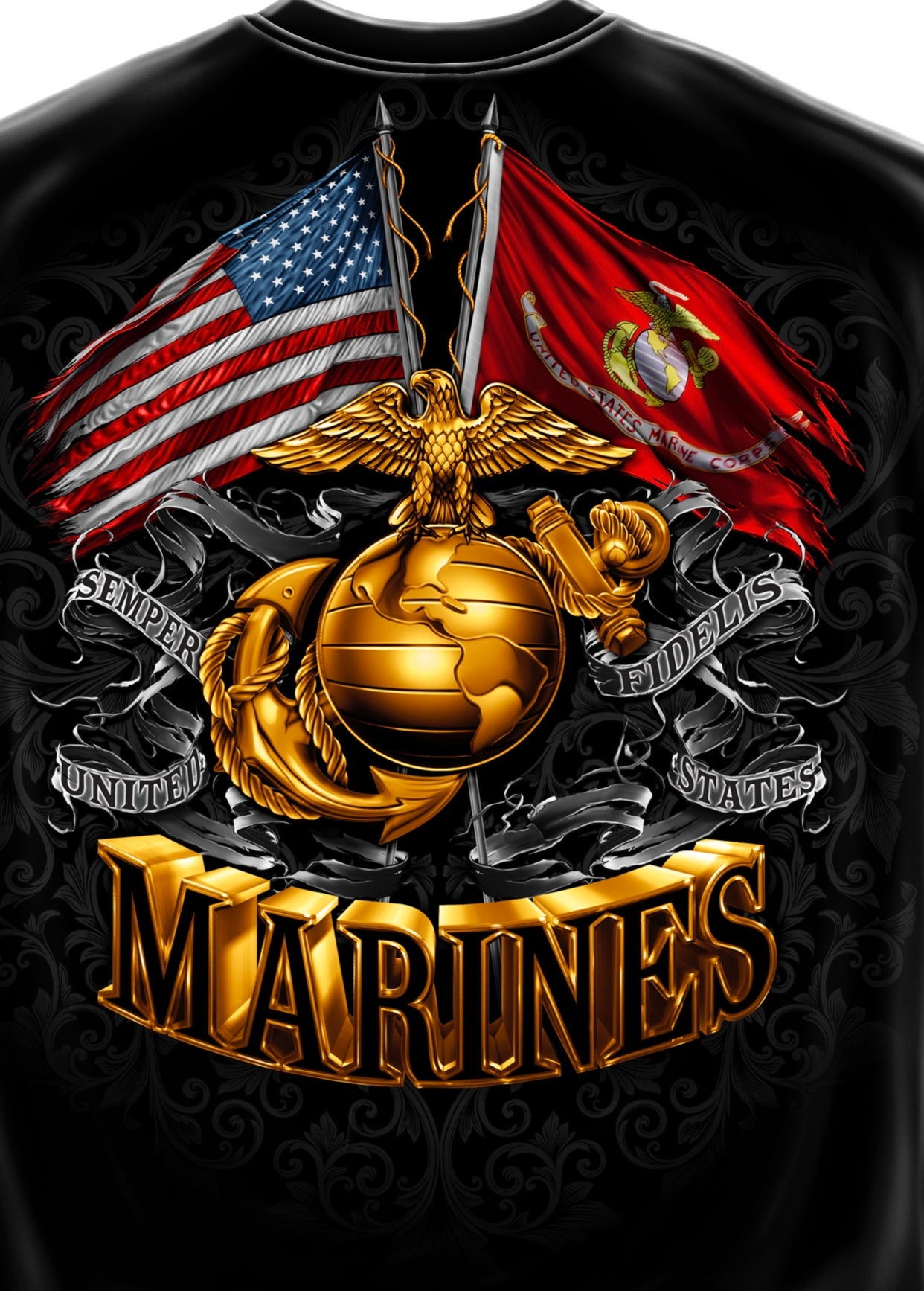 Marine 2 Flag Foil T-Shirt - The Wall Kids, Inc.