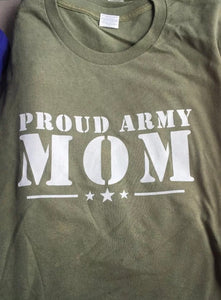 Army.  Proud Army Mom T- Shirt - The Wall Kids, Inc.