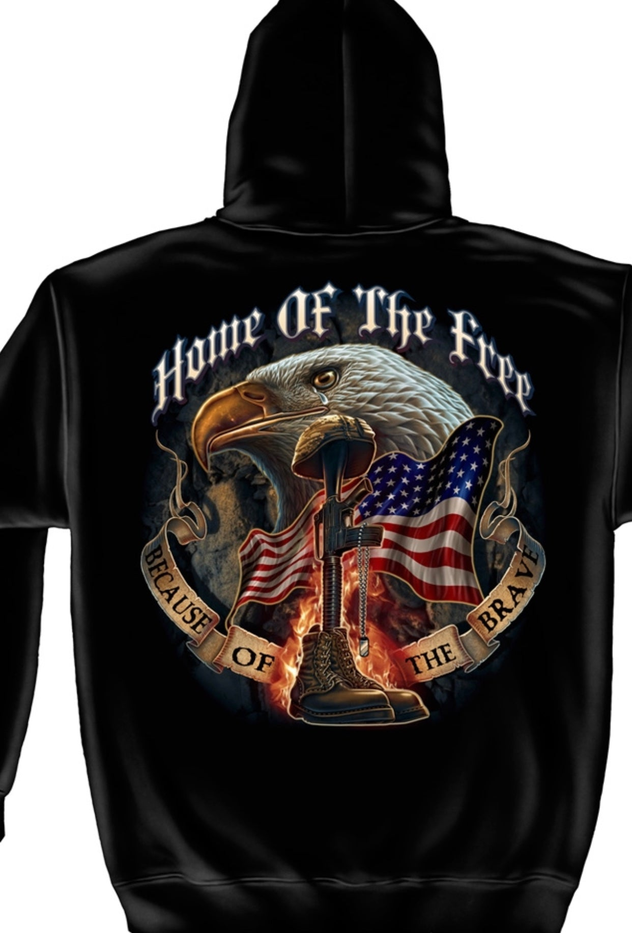 Home Of The Free Eagle Sweatshirt - The Wall Kids, Inc.