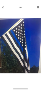 Blue Thin Line 3X5 Flag (Grommets) - The Wall Kids, Inc.