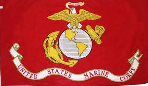 Marine 3X5 Semper Fi Fidelis Polyester Flag With Brass Grommets - The Wall Kids, Inc.