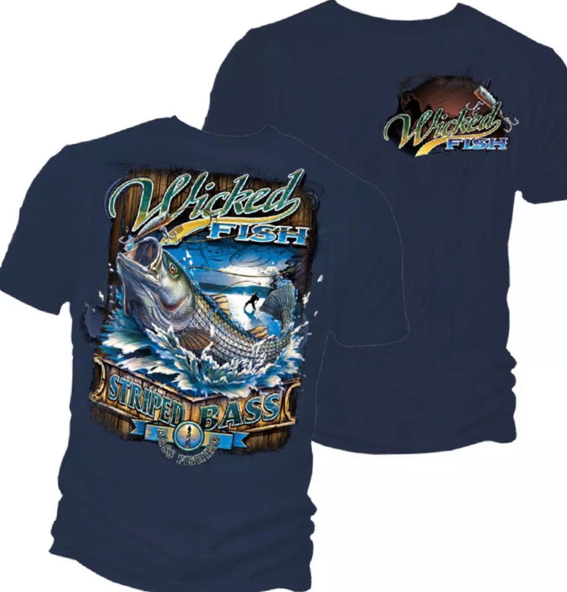 Stripe Bass Surf Fishing T-Shirts - The Wall Kids, Inc.