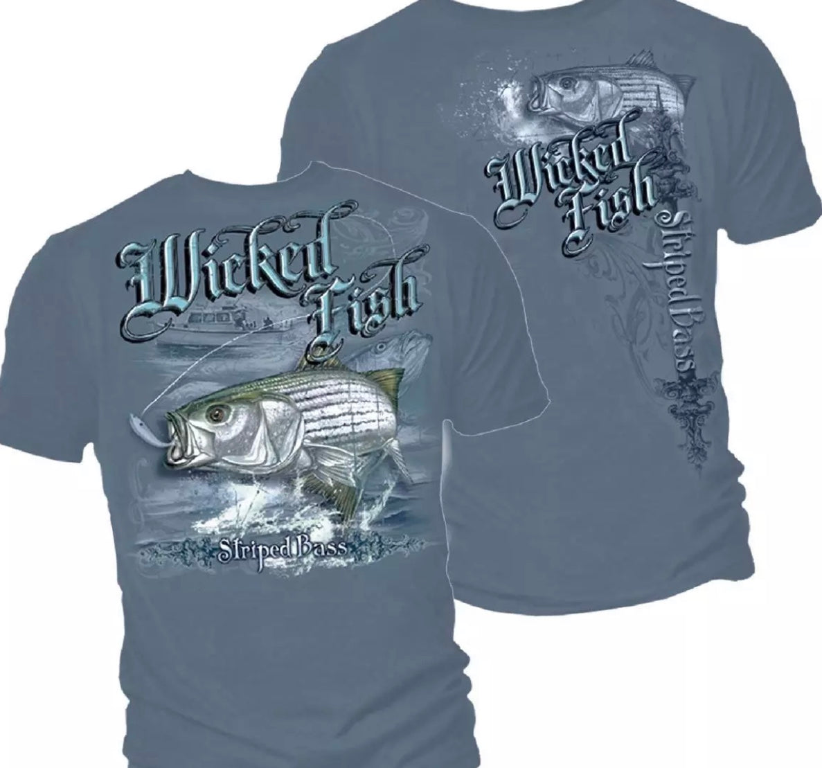 Stripe Bass Boat Fishing T-Shirt