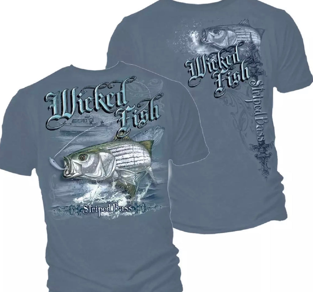 Stripe Bass Boat Fishing T-Shirt - The Wall Kids, Inc.