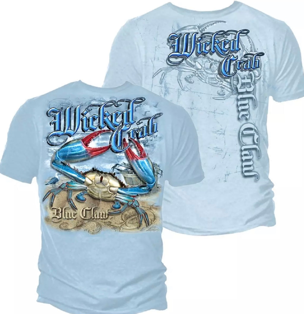 Blue Claw Crab T-Shirts - The Wall Kids, Inc.