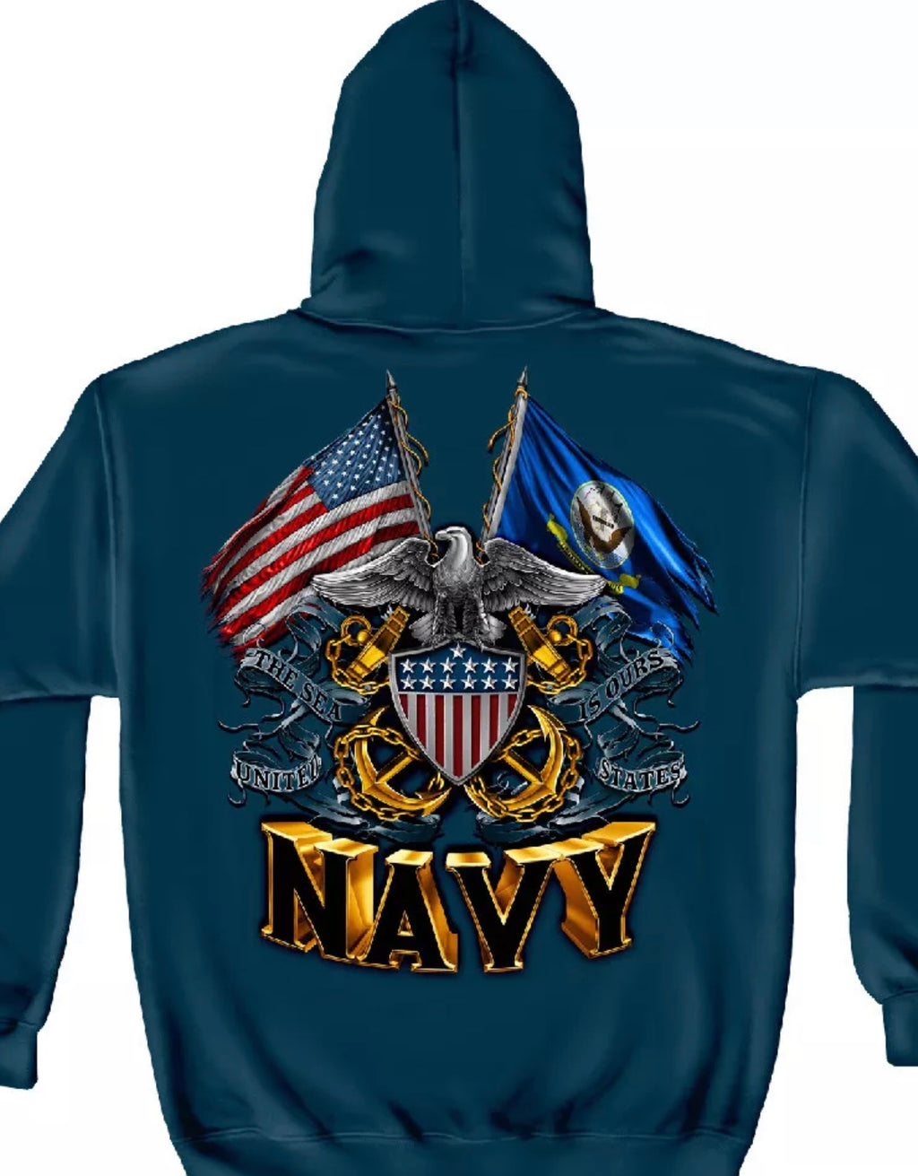 Navy 2 Flag Sweatshirt - The Wall Kids, Inc.