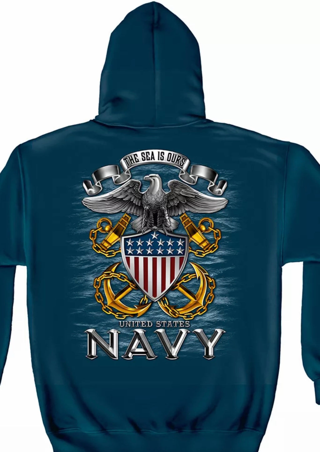 Navy The Sea Is Ours SweatShirt - The Wall Kids, Inc.
