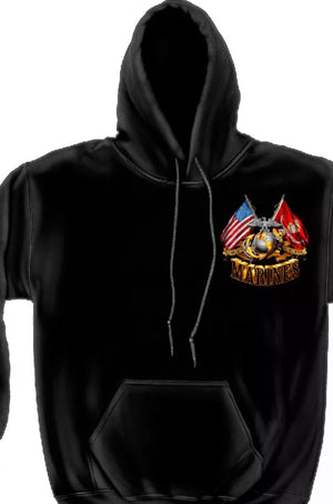 Marines 2 Flag Sweatshirt - The Wall Kids, Inc.