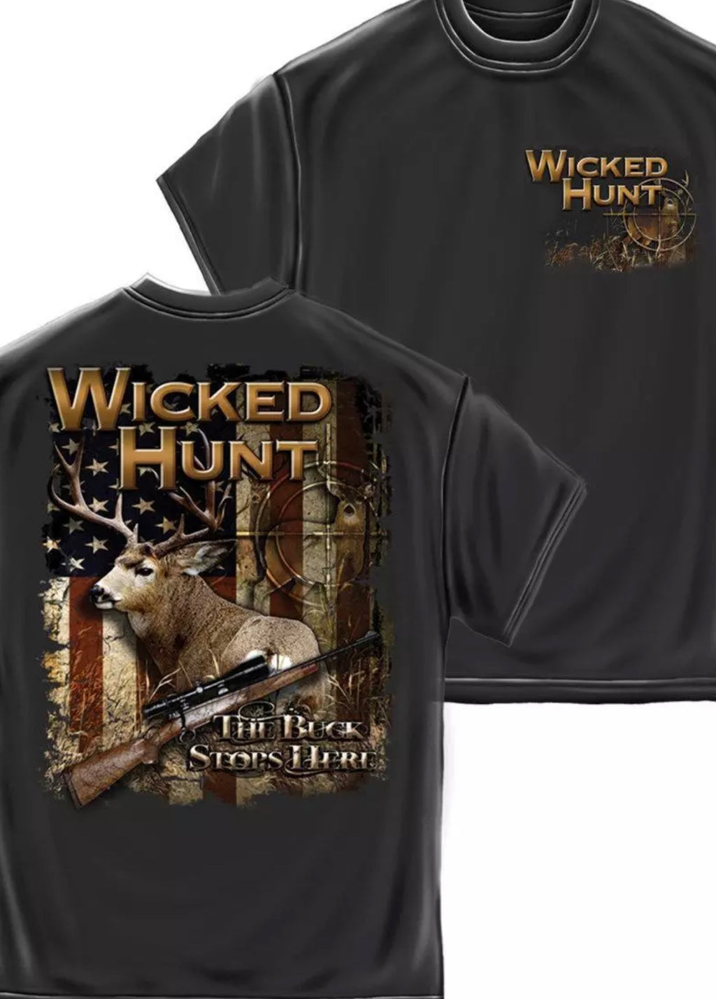 Deer Hunting . The Buck Stops Here T-Shirt - The Wall Kids, Inc.